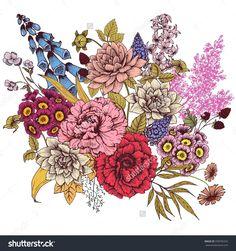 foxglove drawing - Google Search