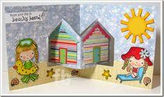 Frances Byrne using the Pop it Ups House Pivot Card die by Karen Burniston for Elizabeth Craft Designs - BeachHouses2-wm