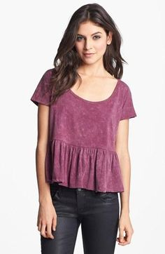 Relaxed, peplum top