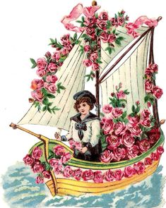 Oblaten Glanzbild scrap die cut  chromo  Kind child  XL 17cm  Boot boat Schiff  at.picclick.com