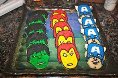 Avengers' Cookies (Hulk, Iron Man & Captain America)