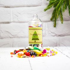 Personalised Retro Sweet Victorian Jar - Tree:: Personalised with any name and any message - Fast UK Delivery.