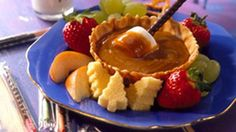 What's better than fondue? Fondue made with peanut butter, sugar and honey that's ready in 15 minutes!