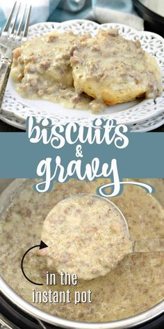 Biscuits smothered in thick, creamy sausage gravy is my idea of the perfect comfort food. Making Biscuits and Gravy is easier than ever with this Instant Pot Sausage Gravy recipe! Easy Gravy Recipe, Biscuit Recipe, Bisquits And Gravy, Easy Sausage Gravy, Making Biscuits, Pressure Cooker Recipes, Pressure Cooking, Instant Pot Dinner Recipes, Entree Recipes