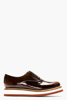 GRENSON Brown Buffed Leather Creeper Sole Sammy Shoes