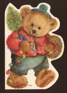 """COLLECTIBLE CHRISTMAS GREETING CARD ENVELOPE..5"""" x 7"""" ARTIST:....Artist Signed..""""Mary"""" (Mary Hamilton.. collectible MODERN artist whose art work has been collected for 50 years)...."""