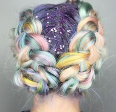 Glitter roots and pastel colours, hair perfection x