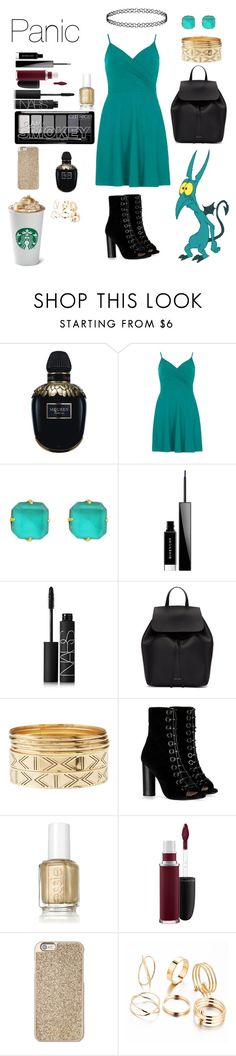 """""""Panic(read description)"""" by crystalgems125 ❤ liked on Polyvore featuring Alexander McQueen, Dorothy Perkins, Loren Hope, Givenchy, NARS Cosmetics, Mansur Gavriel, Charlotte Russe, Barbara Bui, Essie and MAC Cosmetics"""