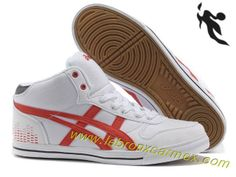 Sale 2013 Asics High Skateboard Shoes White Red