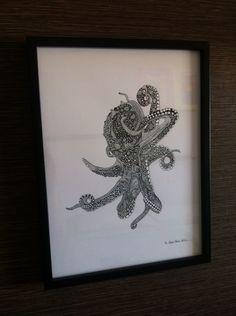 Oktopus zentangle