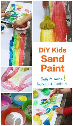 SAND PAINT - easy to make and so interesting to paint with! Kids will love this art activity and the result is spectacular! SAND PAINT - easy to make and so interesting to paint with! Kids will love this art activity and the result is spectacular! Summer Art Activities, Painting Activities, Craft Activities, Art Activities For Toddlers, Ocean Activities, Sand Painting, Painting For Kids, Diy For Kids, Crafts For Kids