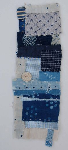 Textile Collage Strippy unframed by Mandy Pattullo