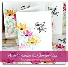 Avant Garden thank you by Sandi at stampinwithsandi.com