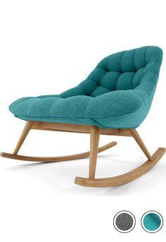 Rocking Chair in Marl Grey Wool, Kolton - Rocking Armchair Chair Design, Furniture Design, Grey Furniture, Reading Nook Chair, Bathroom Chair, Rocking Chair Nursery, Nursery Armchair, Grey Armchair, Rocking Chairs
