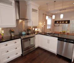 Product of Property Brothers - great white shaker cabinets. Amazing look