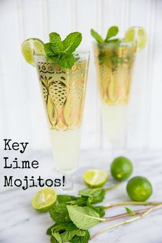 d1060e90b28a6 These Key Lime Mojitos will take you to the beach with a single sip. From