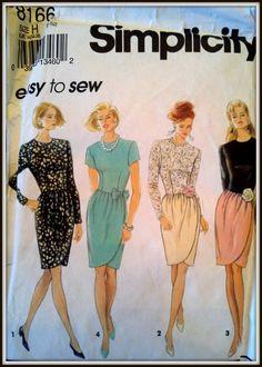 Simplicity  8166  Misses/Miss Petite Dress  by ThePatternShopp, $7.00