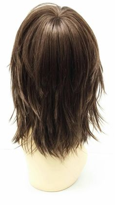 Straight and Layered w/ Bangs. Long Shag Hairstyles, Haircuts For Medium Hair, Bob Hairstyles With Bangs, Braided Hairstyles Updo, Layered Haircuts, Shaggy Haircuts, Updo Hairstyle, Braided Updo, Prom Hairstyles