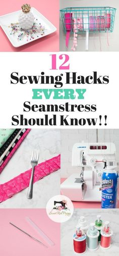 12 sewing hacks, tips and tricks that every seamstress should know! Use everyday household items to make sewing easy!