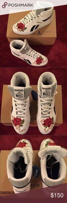 30d07dd240a Brand New Reebok Classic Custom Rose! 🌹❤ Brand New size 8.5 women!