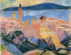 High Summer II, 1915, by Edvard Munch BTW, Please Check Out This Artist's work:   -- http://universalthroughput.imobileappsys.com/site2/gallery.php