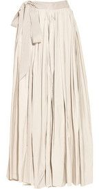 lanvin silk skirt