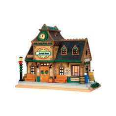 Lemax Spring Valley Depot Christmas Village (55970) - Porcelain Houses - Ace Hardware