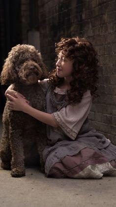 Annie and her trusty Dog Sandy The Costumer, Annie, Dreadlocks, Hair Styles, Dogs, Beauty, Hair Plait Styles, Doggies, Hair Looks