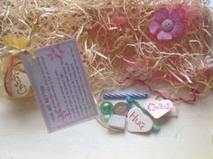 Novelty gift bag included all the little accessorise to go with the poem  hug me better made by crafty hands