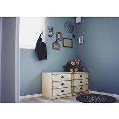 マイホーム/注文住宅/新築/ブルーグレー/ブルーグレーの壁/DIY…などのインテリア実例 - 2015-05-01 10:34:51 | RoomClip(ルームクリップ)