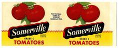 Somerville Brand Tomatoes - Somerville, Mass. (Crate Label) by Artist Unknown |  Shop original vintage #posters online: www.internationalposter.com