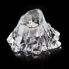 Volcano Clear Frosted Crystal Votive Candle Holder by Mats Jonasson Votive Candle Holders, Votive Candles, Heart And Mind, Museum Of Fine Arts, Volcano, Frost, Glass Art, Arts And Crafts, Sculpture