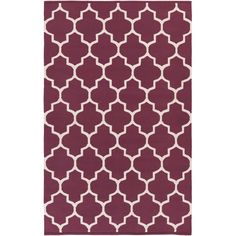 Artistic Weavers Hand-woven Nicole Lattice Cotton Area Rug x - Overstock™ Shopping - Great Deals on Artistic Weavers - Rugs Purple Area Rugs, Beige Area Rugs, Contemporary Area Rugs, Modern Rugs, Trellis Pattern, White Area Rug, Throw Rugs, Rug Size, Size 2