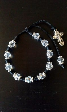 Decenario Bracelet. Rosary bracelet. string bracelet. by makbeads, $7.50