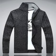 Gender: Men Technics: Computer Knitted Wool: Standard Wool Sleeve Style: Regular Material: Cotton,Cashmere Item Type: Cardigan Closure Type: Zipper Ships within 5-10 business days size Cross Shoulder(