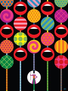 Charlie and the Chocolate Factory for British Vogue by Craig & Karl — Agent Pekka Charlie Chocolate Factory, Craig And Karl, Memphis Design, Willy Wonka, Roald Dahl, Arte Pop, Illustrations And Posters, Illustrators, Pop Art