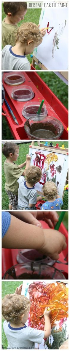A Natural Home made non-toxic herbal paint for Kids