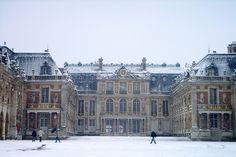 Chateau de Versailles, France in enchanting winter.