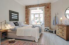 Brick wall in bedroom | Alvhem