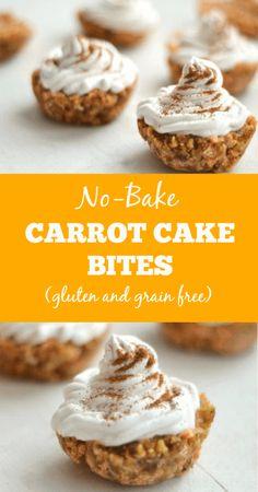 N0 Bake Carrot Cake Bites -gluten-and-grain-free- www.savorylotus.com