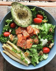 7 salads to eat when the heat comes , Healthy Menu, Healthy Crockpot Recipes, Healthy Eating Recipes, Healthy Snacks, Vegetarian Recipes, Vegetarian Protein, Avacado Dinner, Coliflower Recipes, Comidas Light