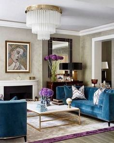 ***P: Not a fan of the teal or the gold coffee table frame. Light fixture feels like luxury.*** Teal Art Deco Living Room decor with teal velvet sofa teal decor Living Room Decor Elegant, Art Deco Living Room, Teal Living Rooms, Home Living, Living Room Sofa, Living Room Designs, Piano Room Decor, Teal Room Decor, Blue Velvet Sofa Living Room