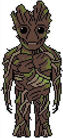 Guardians of the Galaxy: Groot Chart PDF Pattern