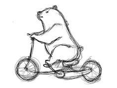 Pedal Bear by Mark D