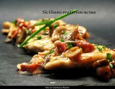 Pollo in salsa cremosa di funghi e pancetta | SICILIANI CREATIVI IN CUCINA |