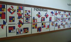 Engaging layout for a display, usually Mondian projects are displayed so stagnet that each students are is not given room to be respected. This display does that. Sala de Arte / MONDRIAN