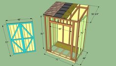 Step by step article about how to build a lean to shed. Building a lean to shed, attached to the house is easy, if you use the right plans and woodworking techniques. Lean To Shed Plans, Wood Shed Plans, Shed Building Plans, Building Ideas, Building Design, Cheap Sheds, Cheap Shed Kits, How To Build Steps, Wood Storage Sheds