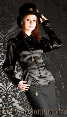 Black Steampunk Blouse.  Nice with the skirt