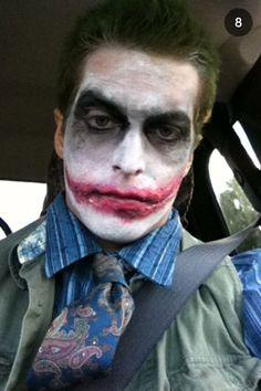 Joker costume make up