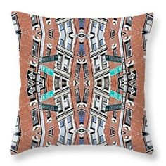 Stacked City Throw Pillow  http://pixels.com/products/stacked-city-sarah-loft-throw-pillow-14-1..  #throwpillows #sarahloft #digitalart #digital #abstract #architcture
